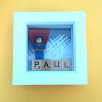 Personalised superman box frame