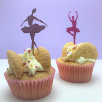 12 ballerina cupcake toppers, perfect for a ballerina birthday party