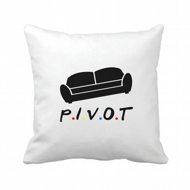 Pivot - Friends Inspired - Linen Cushion Cover
