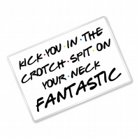 Kick You In The Crotch Spit On Your Neck Fantastic - Friends Inspired - Magnet