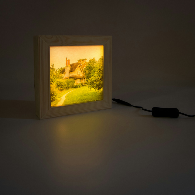 Once Upon A Time. Wooden lightbox featuring Blaise Hamlet.
