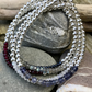Sterling Silver Bead and Gemstone Stacking Bracelet