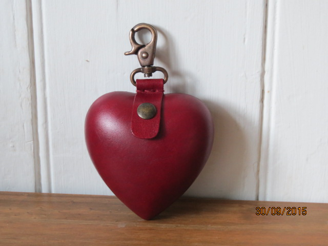 Heart Coin Purse, Heart Purse, Change Purse, Key Ring, Bag Accessory