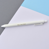 Any Text - Foil Embossed Ball Point Pen - Customised Pen - Stocking Filler