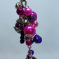 Jingle jangle keyring in pink and purple