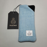 HARRIS TWEED Spectacle, glasses case. Blue.