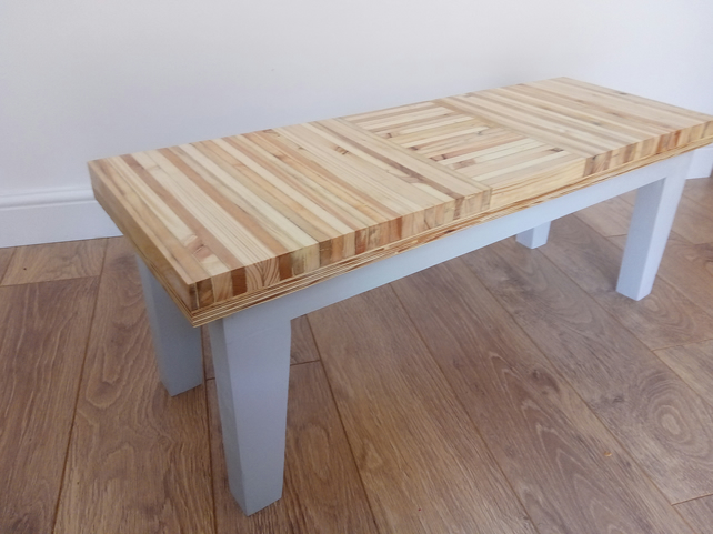 Coffee table upcycled modern handmade in UK