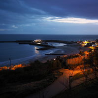 Lyme Regis Bay, at dusk