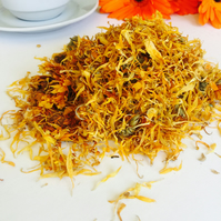 Marigold tea, (calendula) tea, get well eat