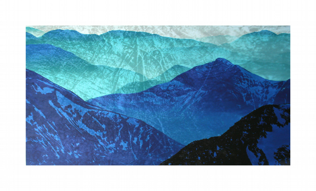 Ben Nevis, limited edition blue mountain print, statement art for your home