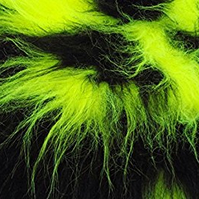 Black and Yellow Long Pile Faux Fur Fabric
