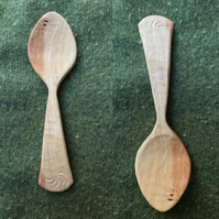 Hand Carved Hazel Eating Spoon