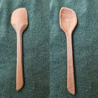 Hand Carved Cherry Cooking Spoon, Left Handed