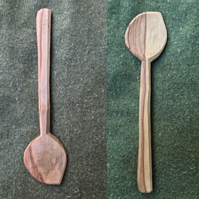 Hand Carved Holly Cooking Spoon, Right Handed
