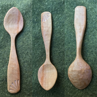 Hand Carved Beech Eating Spoon