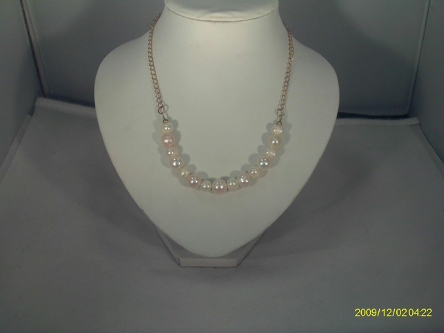 Gold Plated Freshwater Pearl Necklace