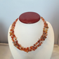 Silver-Plated Red Agate Chip double strand Necklace