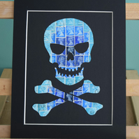 Skull and Crossbones - Blue