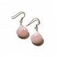 Pink Opal Faceted Drop  Earrings with Sterling Silver