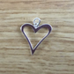 Sterling Silver Large Funky Heart