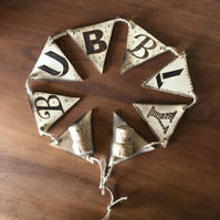 Wooden Bunting - 'Bubbly'