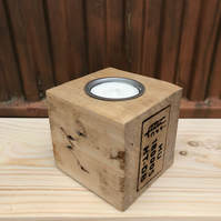 Upcycled Pallet Block Candle Holder (HU 180005)