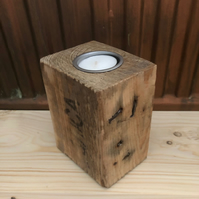 Upcycled Pallet Block Candle Holder (SAICA)