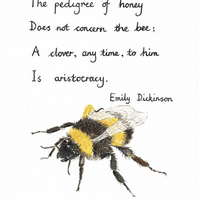 Illustrated bee poem