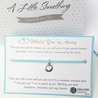 Whilst You're Away Wish Bracelet Gift Quote Heart Charm by Callow Designs
