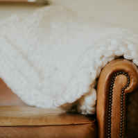 Merino Wool Blanket - Arm Knit - Off-White