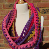 Extra Long Multi Coloured Scarf