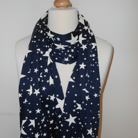 Scarf, Navy with Stars