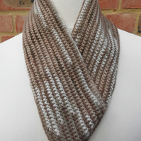 Brown and beige cowl- sample