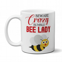 Crazy Bumble Bee Lady Coffee Tea Mug Funny Gift For Girls Women Ladies
