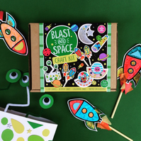 Blast into Space - Craft Kit, Craft Kits for Kids, DIY Craft Kit, Space, Gifts,