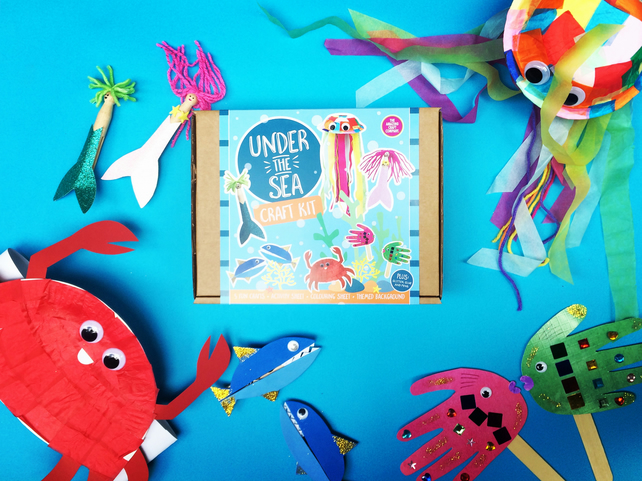 Under the Sea - Craft Kit, Craft Kits for Kids, DIY Craft Kit, Mermaid, Gifts,
