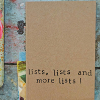 Lists Lists & More Lists - Small A6 Notebook - Lined