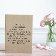 Annoying Anniversary - Funny Humour Love Card