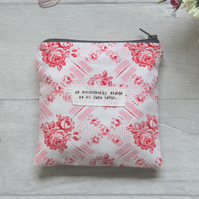 Emotionally Stable  Ikea Table - Fun, Small, Floral, Humour Zip Pouch - Purse