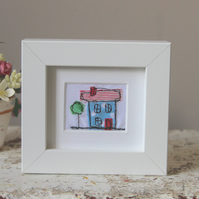 Small Free Motion Embroidery Framed House - New Home