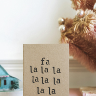 Fa la la - Christmas Song - Card