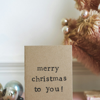 Merry Christmas To You - Typography Christmas Card
