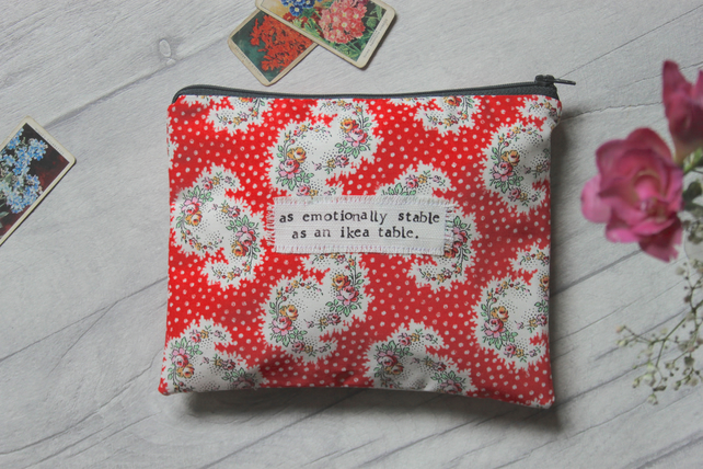 I Got This From Someone Who Loves Me - Pink Floral Large Zip Pouch