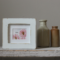 Small Embroidery Home Frame With Chippy White Frame