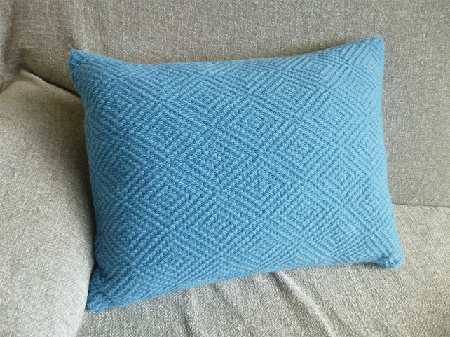 Blue Colour Pop Knitted Cushion