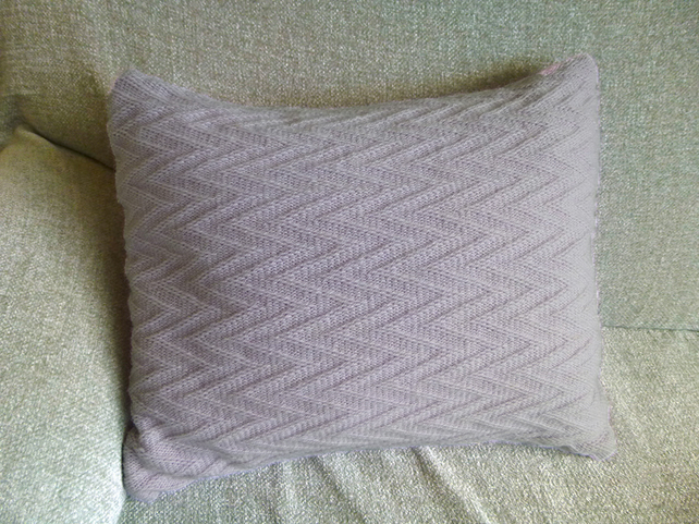 Lilac Colour Pop Knitted Cushion