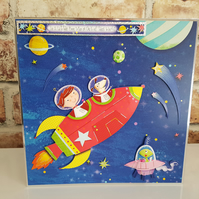 To the little boy who is out of this world - Greeting card