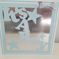 REDUCED - It's a boy - greeting card