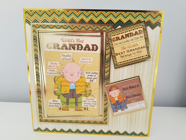World best Grandad - Greeting card
