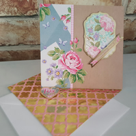 With love on your special day - Hanmade birthday card